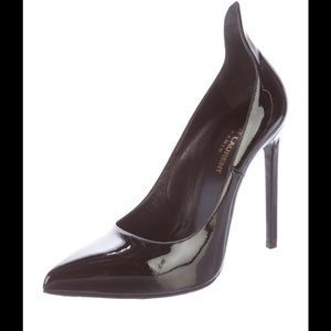 Saint Laurent Pointed-Toe Patent Leather Pumps